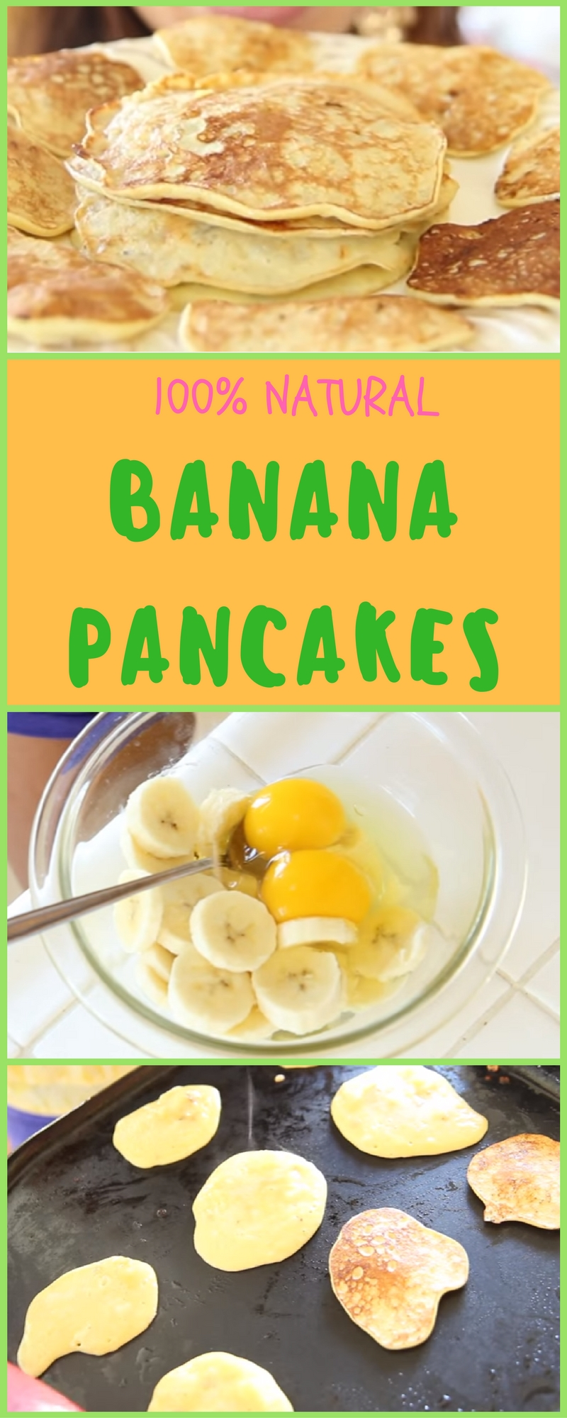 100% Natural Banana Pancakes