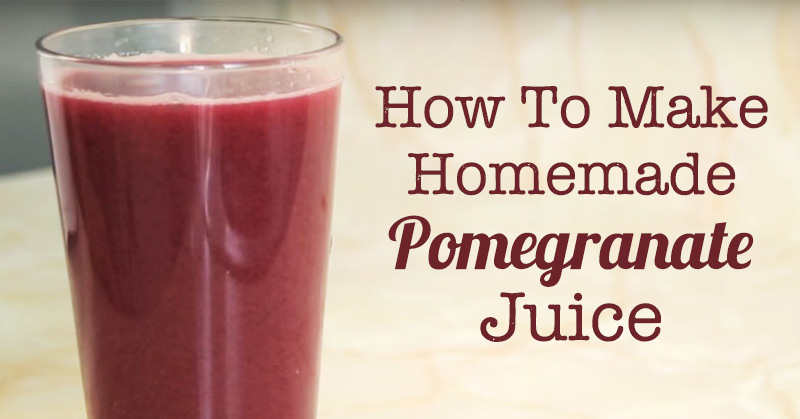 Recipe world how to make homemade pomegranate juice drinks for Easy to make drinks