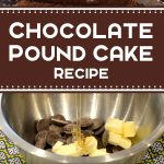 Chocolate Pound Cake Recipe Demonstration