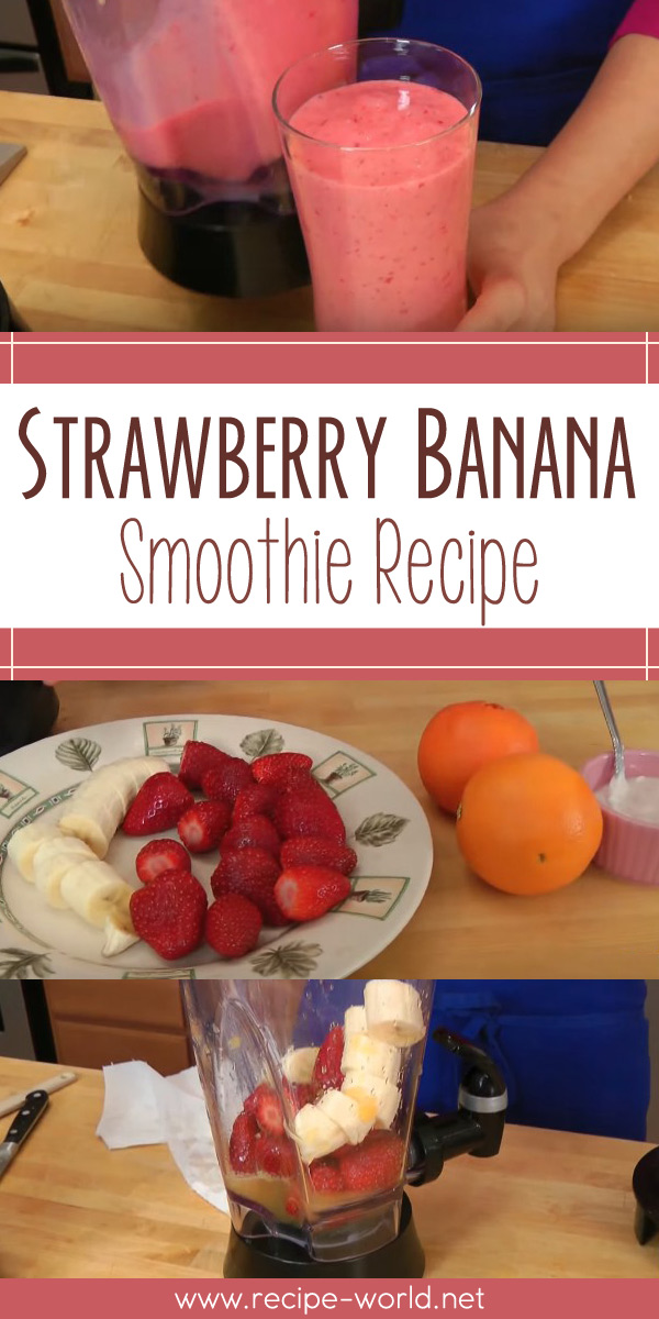 Strawberry Banana Smoothie Recipe - Laura Vitale