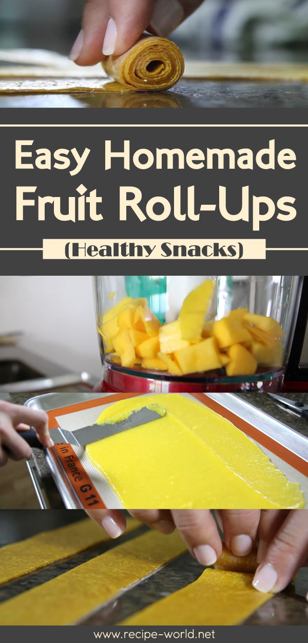 Easy Homemade Fruit Roll-Ups  Healthy Snacks