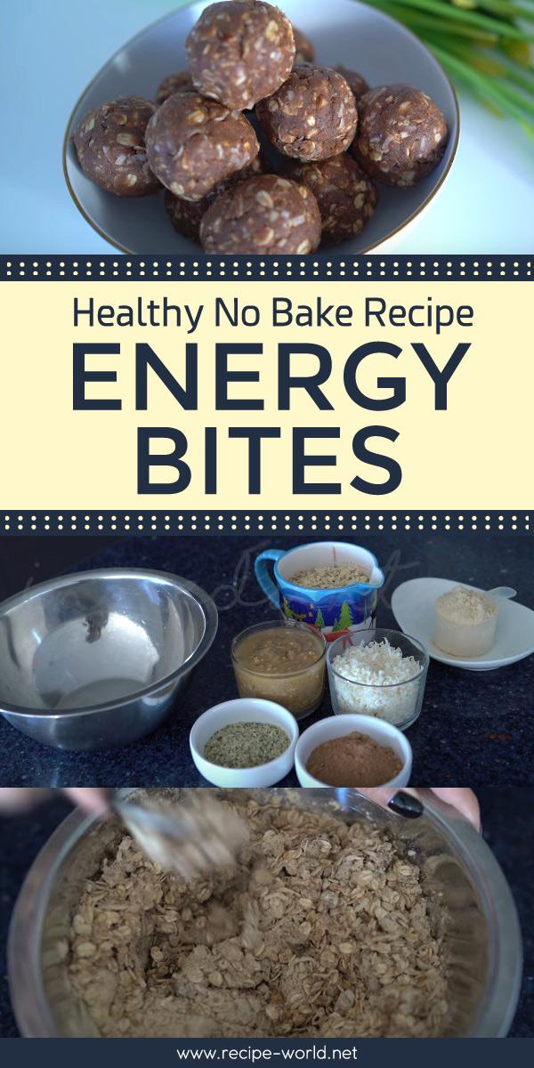 Healthy No Bake Recipe - Energy Bites