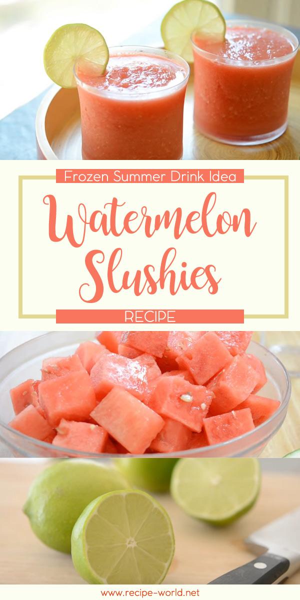 Watermelon Slushies Recipe: Frozen Summer Drink Idea