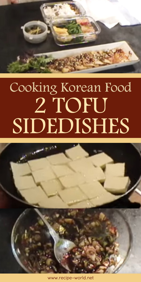 Cooking Korean Food 2 Tofu Sidedishes