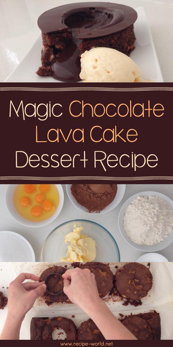 Magic Chocolate Lava Cake Dessert