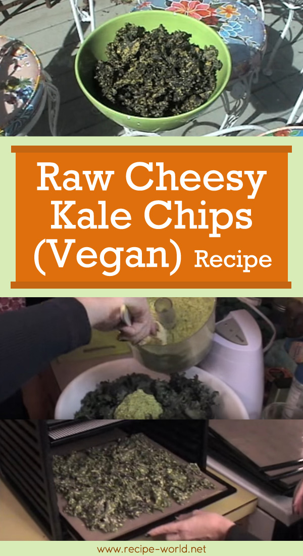 Raw Cheesy Kale Chips- Lunchbox Snack