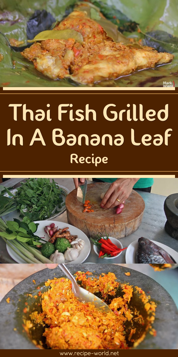 Grilled whole fish on banana leaf recipe dishmaps for Thai fish recipe