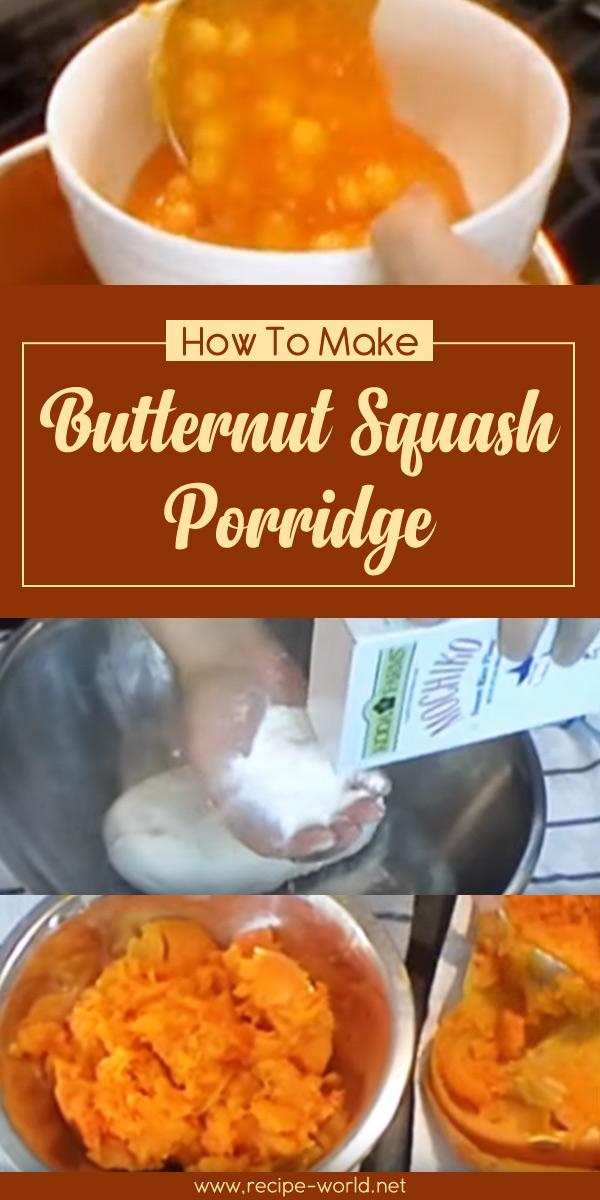 Butternut Squash Porridge