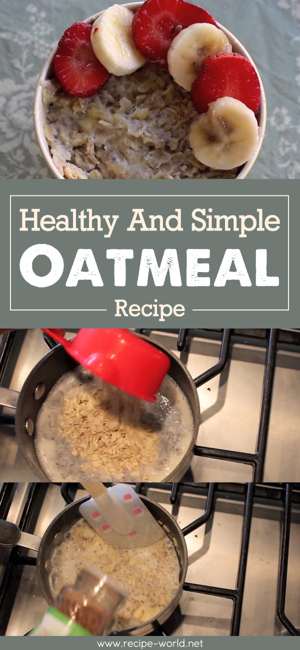 Healthy And Simple Oatmeal