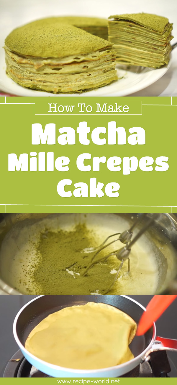 Matcha Mille Crepes Cake
