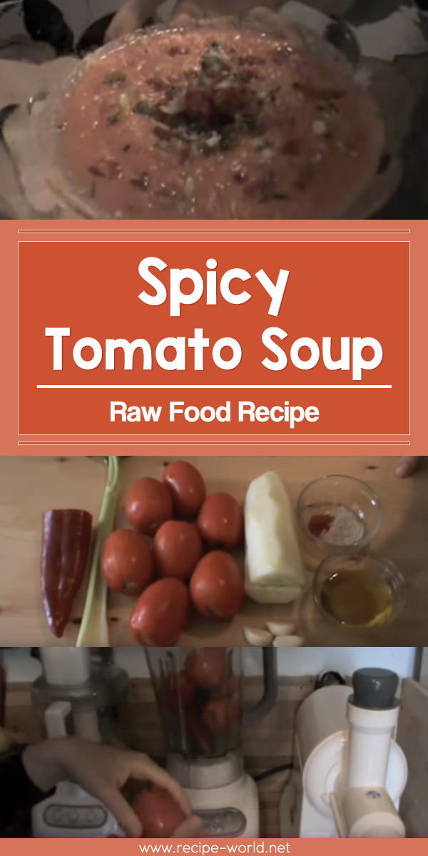 Raw Food Recipe - Spicy Tomato Soup