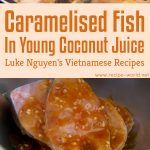 Caramelised Fish In Young Coconut Juice (Ca Kho To)
