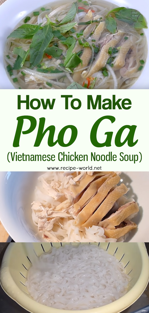 How To Make Pho Ga (Vietnamese Chicken Noodle Soup)