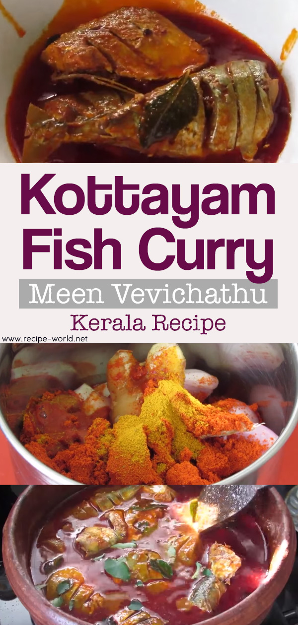 Kottayam Fish Curry - Meen Vevichathu - Fish Curry With Kudampuli - Kerala Recipe