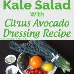 Kale Salad With Citrus Avocado Dressing