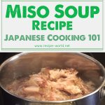 Miso Soup Recipe – Japanese Cooking 101
