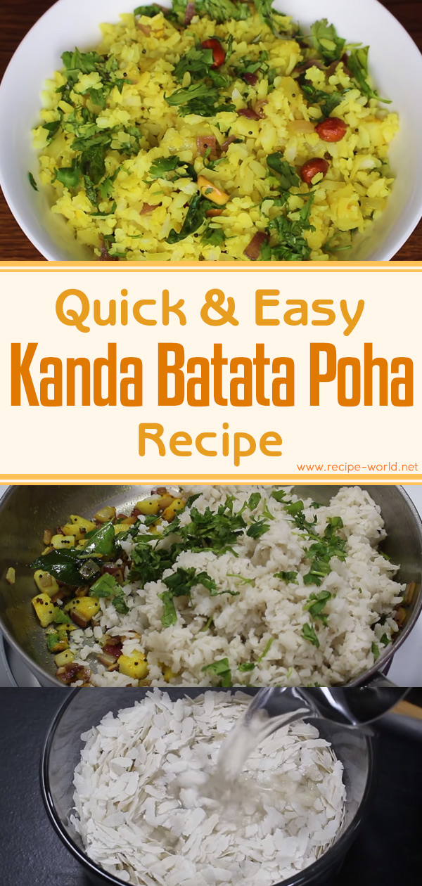 Quick And Easy Kanda Batata Poha Recipe