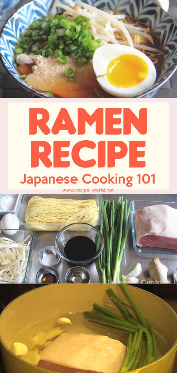 Pork Ramen Recipe - Japanese Cooking 101