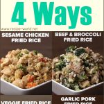 Cauliflower Fried Rice 4 Ways