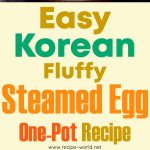 Easy Korean Fluffy Steamed Egg One-Pot Recipe