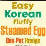 Easy Korean Fluffy Steamed Egg One-Pot Recipe