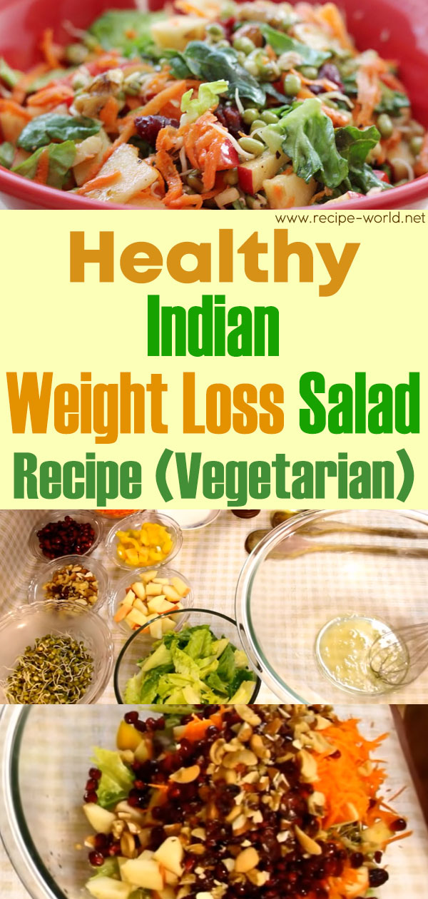 Healthy Indian Weight Loss Salad Recipe (Vegetarian)