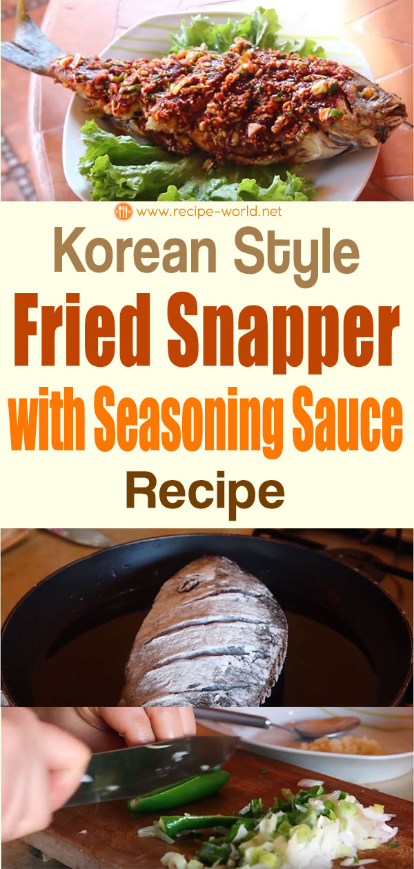 Korean Style Fried Snapper With Seasoning Sauce