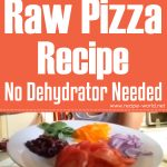 Raw Pizza Recipe No Dehydrator Needed!!!!!