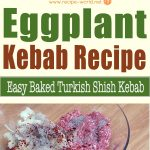 Eggplant Kebab Recipe – Easy Baked Turkish Shish Kebab