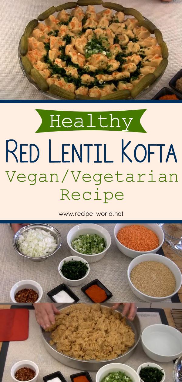 Healthy Red Lentil Kofta Vegan Vegetarian Recipe