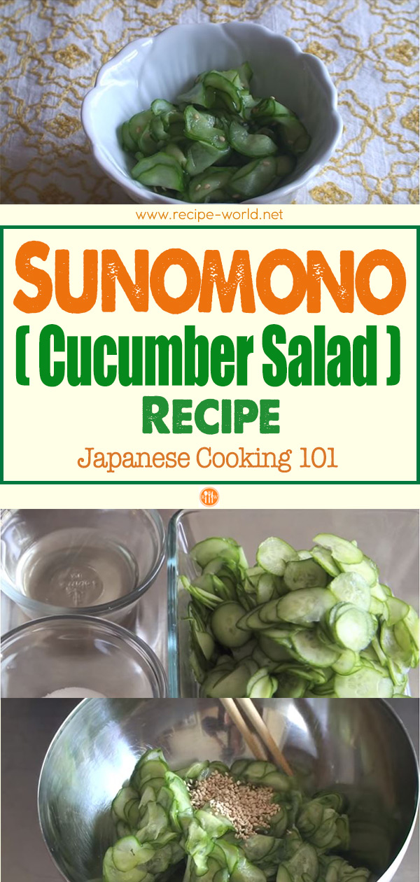 Sunomono (Cucumber Salad) Recipe - Japanese Cooking 101