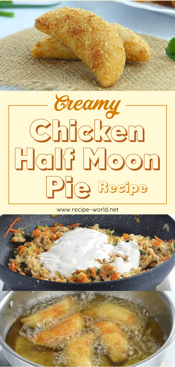 Creamy Chicken Half Moon Pie Recipe
