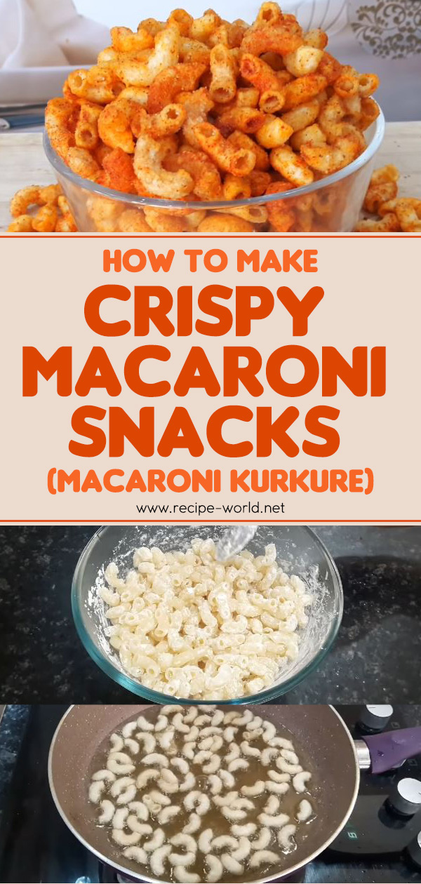 Crispy Macaroni Snacks - Macaroni Kurkure