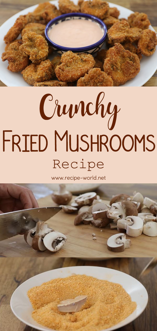Crunchy Fried Mushrooms Recipe - Breaded Mushrooms