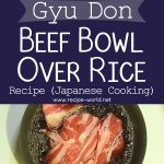 Gyu Don (Beef Bowl Over Rice) Recipe – Japanese Cooking