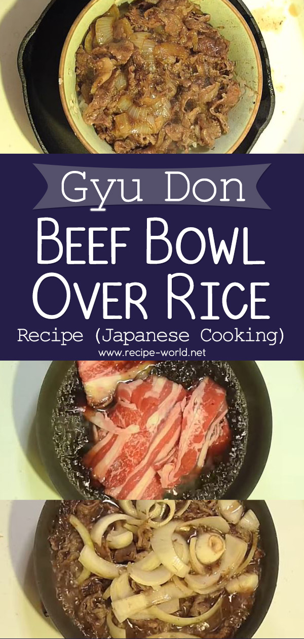 Gyu Don (Beef Bowl Over Rice) Recipe - Japanese Cooking
