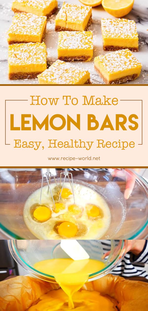 Lemon Bars - Easy, Healthy Recipe
