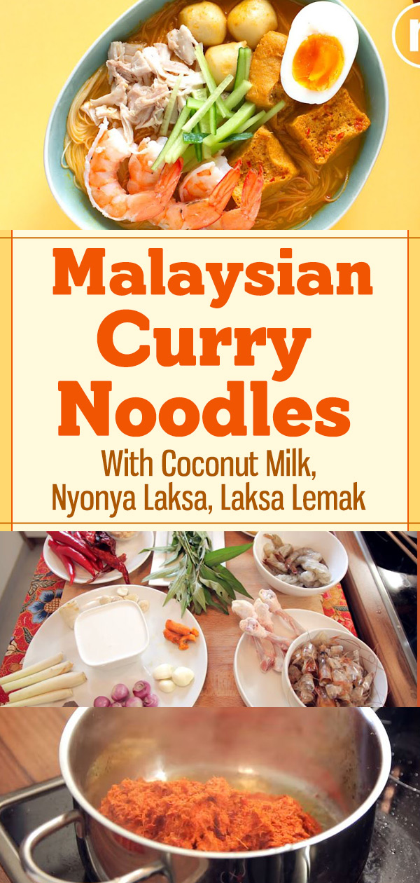 Malaysian Curry Noodles With Coconut Milk, Nyonya Laksa, Laksa Lemak