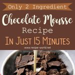 Only 2 Ingredient Chocolate Mousse Recipe In Just 15 Minutes
