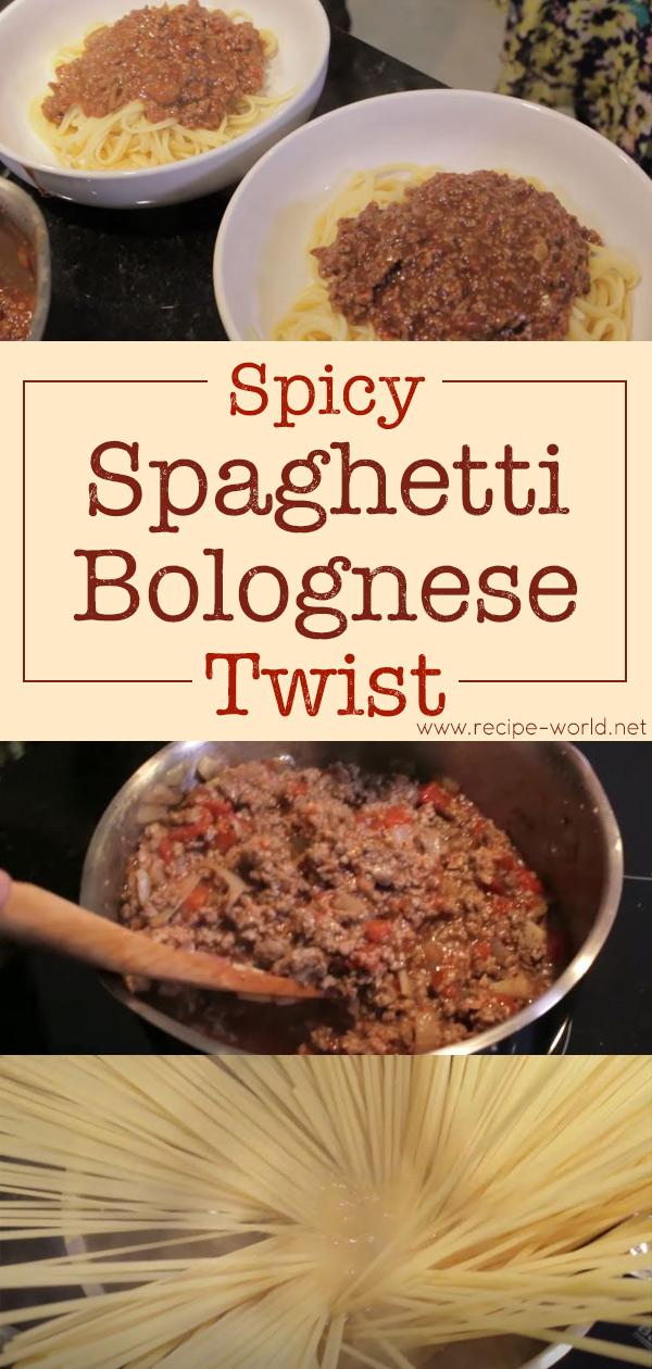 Spicy Spaghetti Bolognese Twist