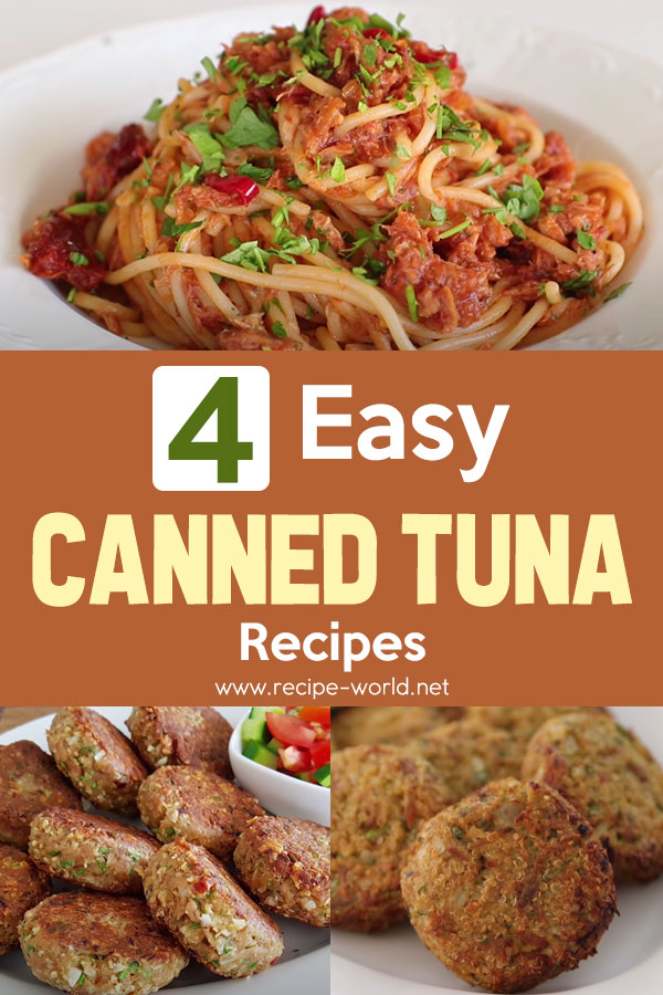 4 Easy Canned Tuna Recipes