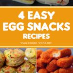 4 Easy Egg Snacks Recipes | Crepe Egg Roll | Easy Egg Muffin | Egg Pakora | Egg Fingers | Toasted