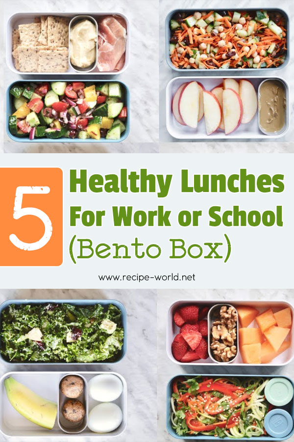 5 Healthy Lunches For Work Or School (Bento Box)