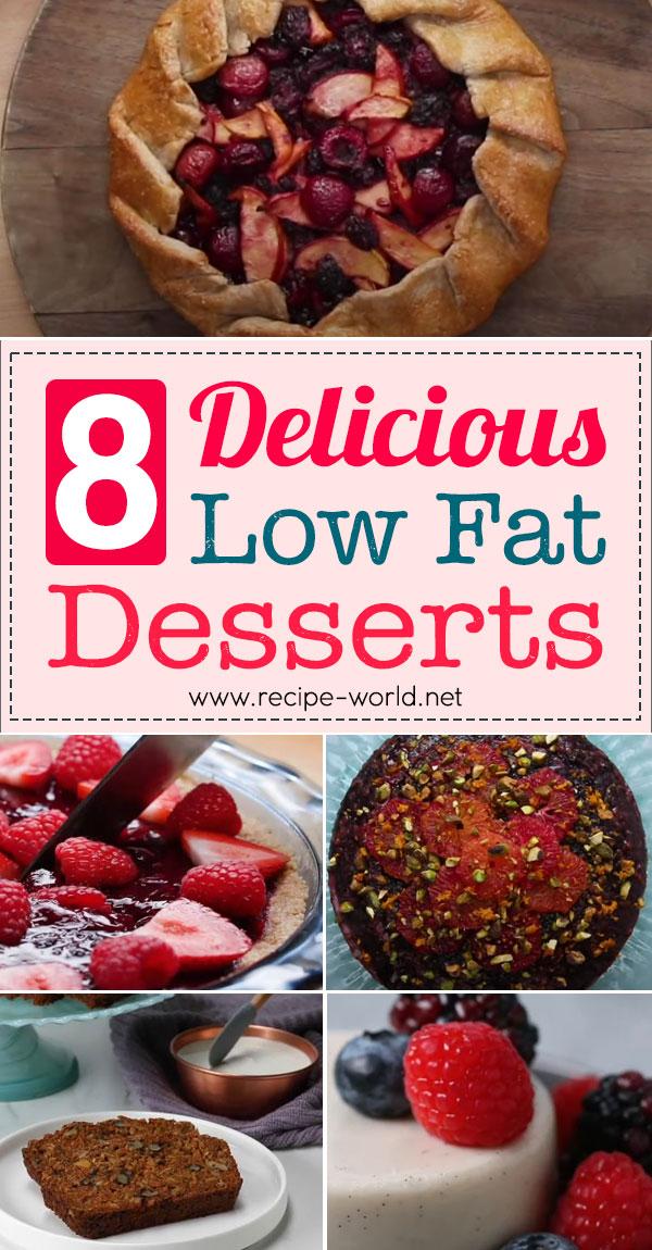 8 Delicious Low Fat Desserts