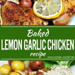Baked Lemon Garlic Chicken Recipe | Lemon Garlic Cream Sauce Recipe