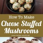 Cheese Stuffed Mushrooms | Mushroom Recipe