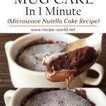 Chocolate Mug Cake In 1 Minute | Microwave Nutella Cake
