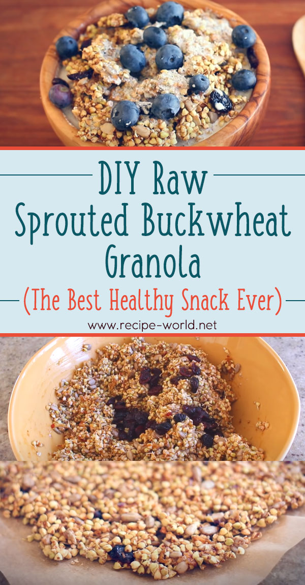DIY Raw Sprouted Buckwheat Granola! (The Best Healthy Snack Ever)