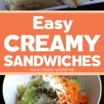 Easy Creamy Sandwiches | Lunch Box Recipe