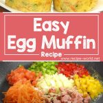 Easy Egg Muffin – Healthy Breakfast Recipe For Kids By Tiffin Box | Vegetable Omelette Muffins Recipe